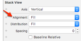 UIStackView fill alignment