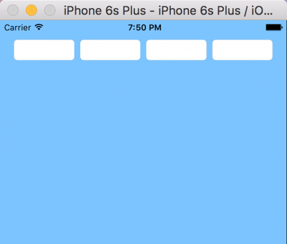 A screenshot of an iPhone screen displaying final fields with spacing created in UIStackView