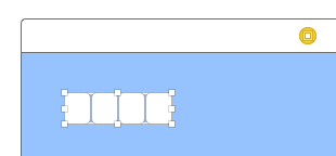 A screenshot of shrunk fields grouped in a tight bundle of four within the new stack view.