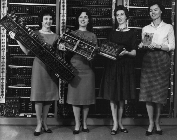 A photo of some of the women who programmed the ENIAC