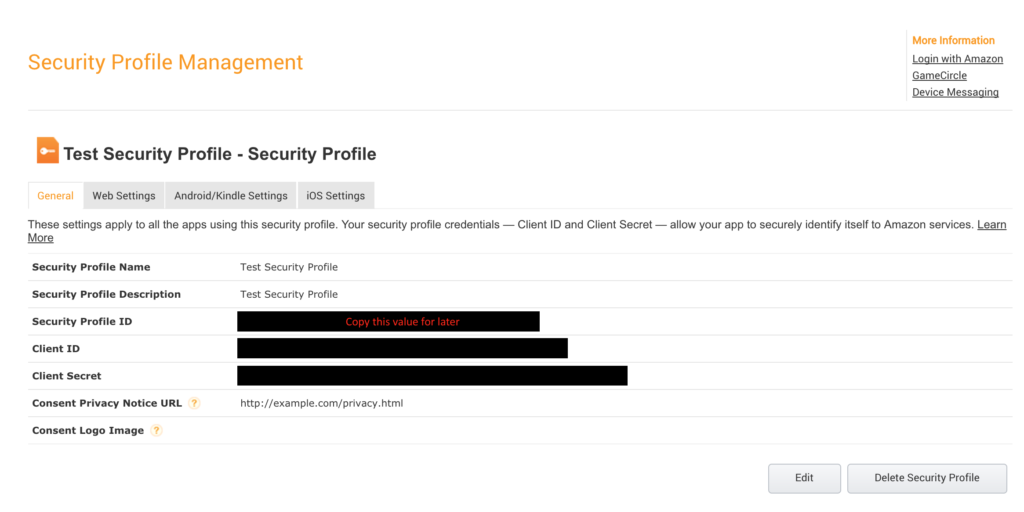 Android DRS - Security Profile Secrets