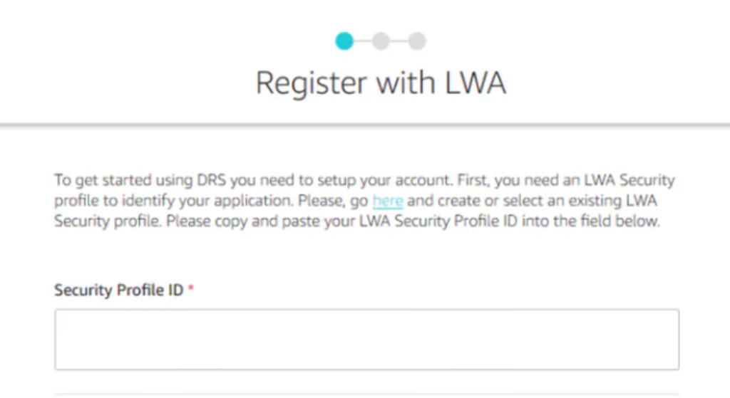 Android DRS - Register With LWA 1