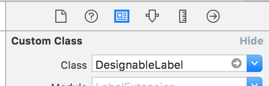 set class to designable label