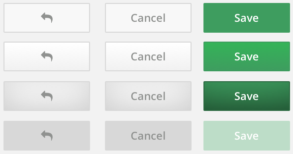 All button variations by using nested symbols.