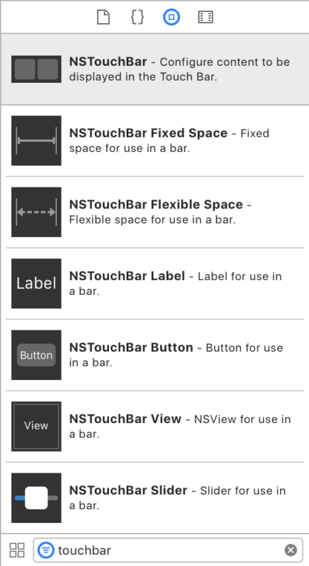 Getting Started with NSTouchBar for macOS using Storyboards