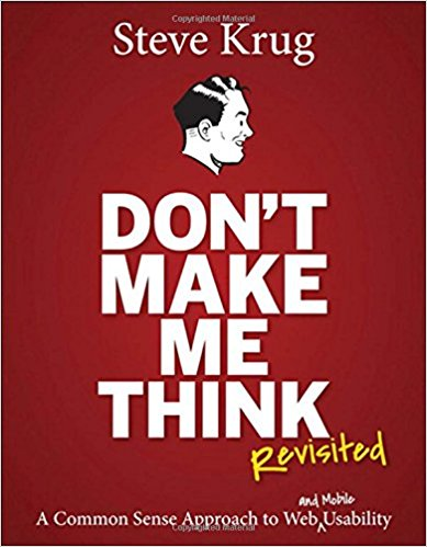 """Don't make me think"" book cover"