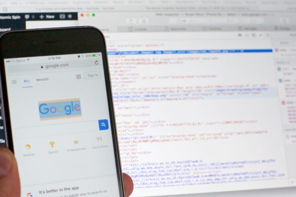 Inspecting Safari's Web Browser on a Mobile Device