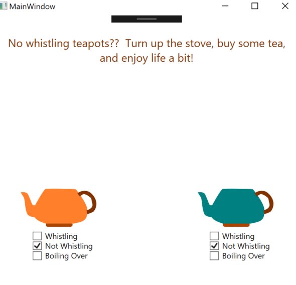 Reactive Extensions, ReactiveUI, and Whistling Tea Kettles