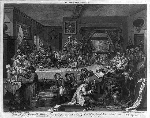William Hogarth print,