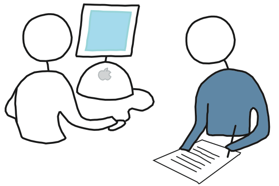 Usability test illustration.