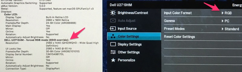 Fixing the External Monitor Color Problem with Your 2018