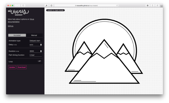 A Simple Way To Quickly Animate SVGs with Vivus js
