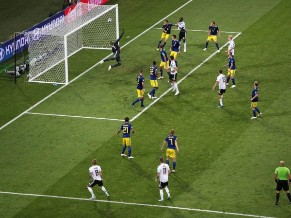 Image of scoring a goal in a sporting event