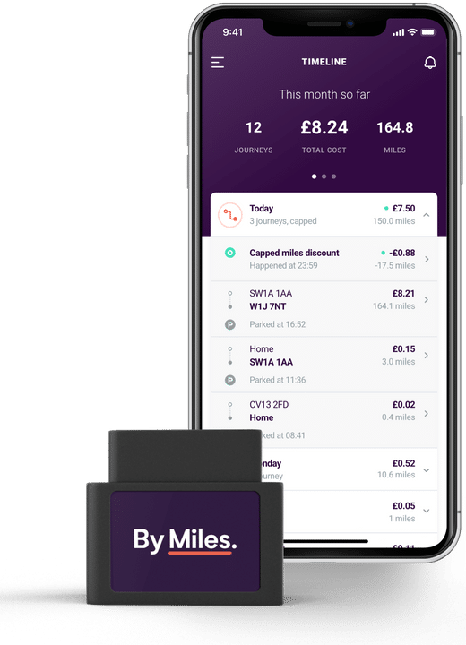 By Miles Mobile App and Tracker Device