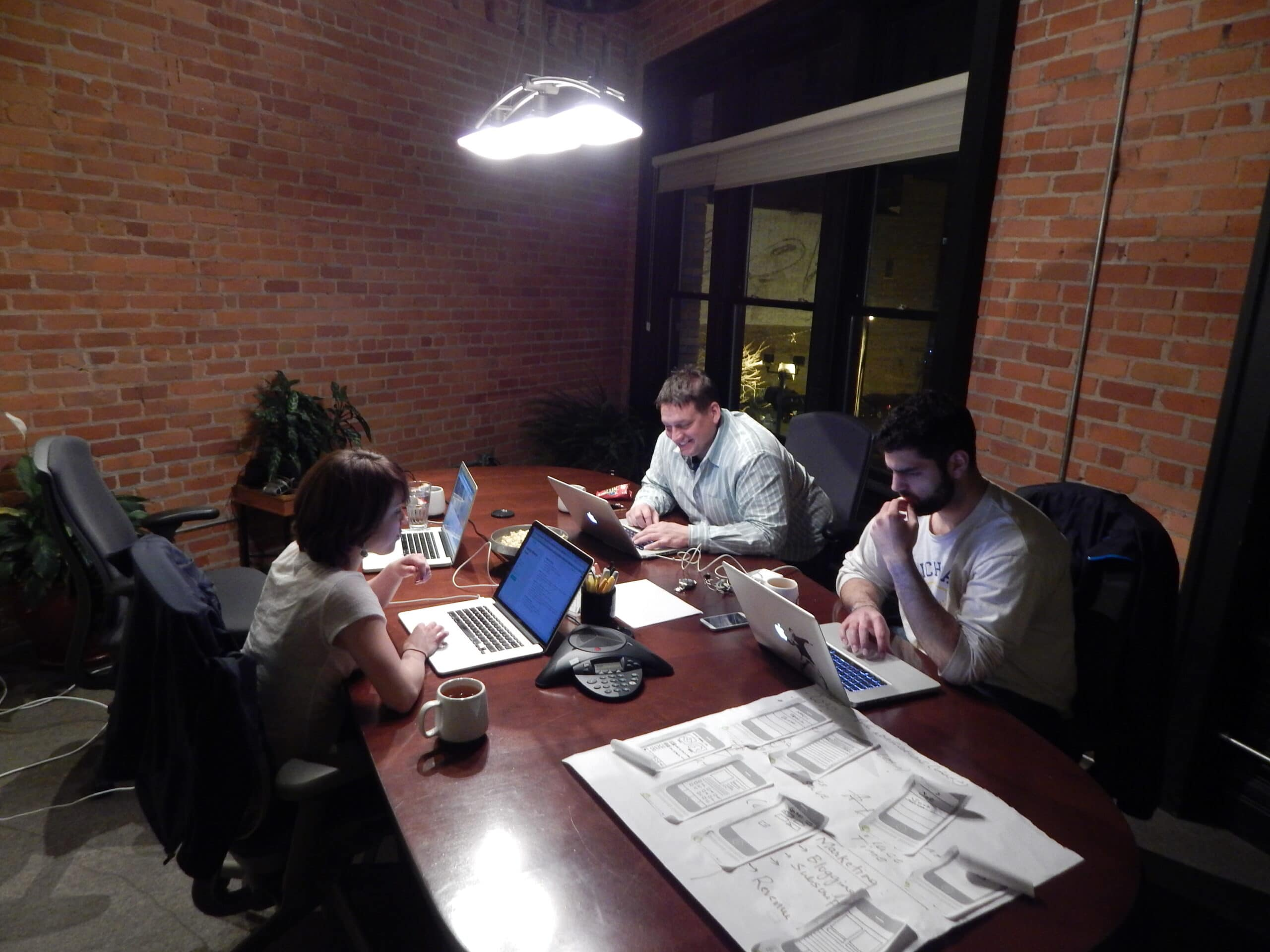 Team Working Late