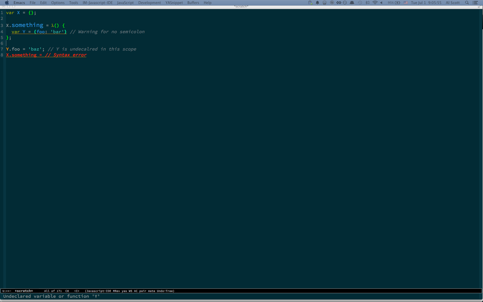 Js2 Mode in Emacs