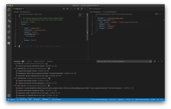 VSCode with project-wide type-checking