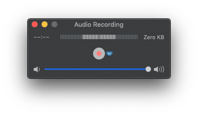 Audio Recording - Output Volume Slider