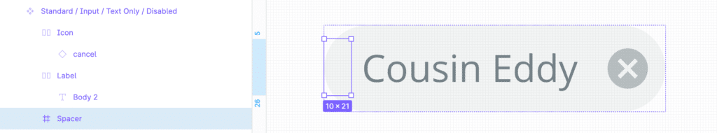 Using a spacer element helps with Auto Layouts