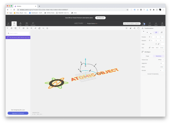 Creating A 3d Logo With Vectary