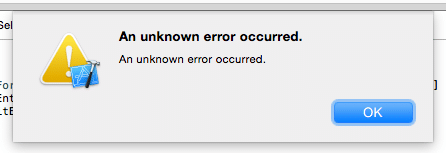 An unknown error has occurred.