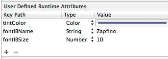 runtime attributes for segmentedcontrol
