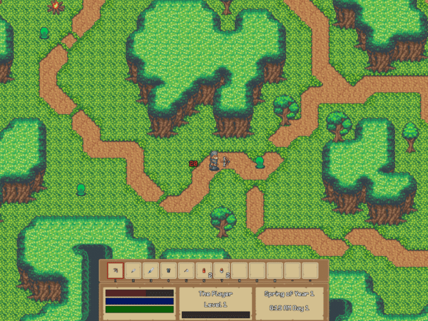 Screen from an Indie Game by the Author