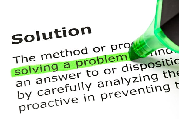 Solutions are meant to solve problems.
