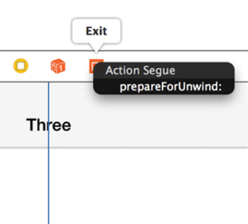 Adding the Unwind Segue
