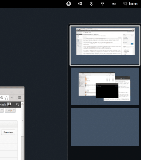 Managing virtual desktops on GNOME 3.