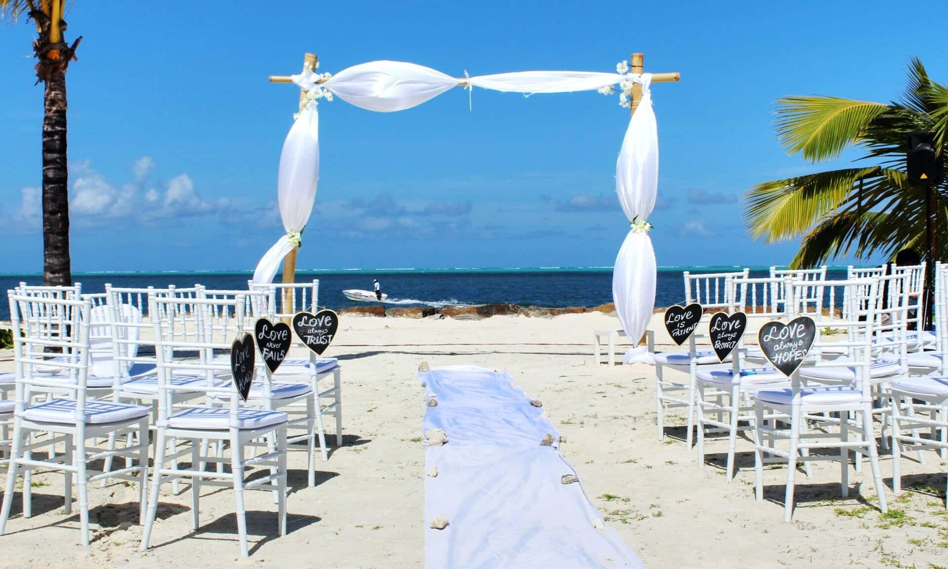 Chairs Set up for a Beach Wedding